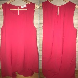 Dresses & Skirts - Red Shift dress from AR boutique Riff Raff (M & L)
